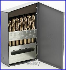 Screw Machine Cobalt 29 pc Drill Set 135° Point USA 1/16 to 3/8 RMT #95090877
