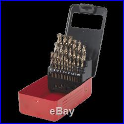 Sealey HSS Cobalt Split Point Fully Ground Drill Bit Set 25pc Metric AK4702