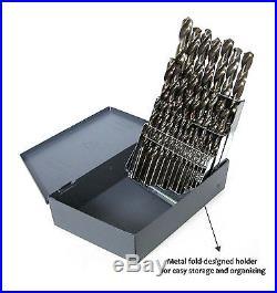 SharpSKIL Premium Industrial Grade Cobalt Drill Bit Set 29 Pieces Twist Desig