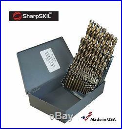 SharpSKIL Premium M42 Cobalt Drill Bit Set HSS Industrial Grade Drill Bits