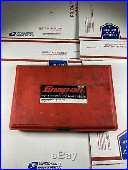 Snap On 34pc Screw Extractor / LH Cobalt Drill Bit Set EXD35 Perfect Condition