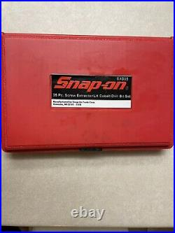 Snap On 35 Pc. Screw Extractor/LH Cobalt Drill Bit Set missing smallest bit
