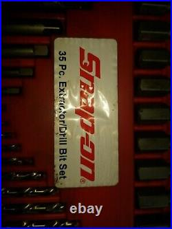 Snap-On 35 Piece Master Extractor Set, Left Hand Cobalt drill bit set