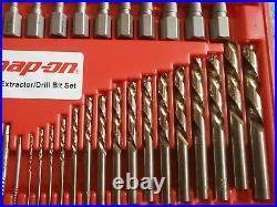 Snap-On 35 Piece Master Extractor Set, Left Hand Cobalt drill bit set Hand Tool
