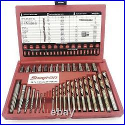 Snap On 35 Piece Screw Extractor /LH Cobalt Drill Bit Set EXD35