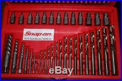 Snap-On 35 Piece Screw Extractor/LH Cobalt Drill Bit Set EXD35 EZ-Out