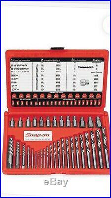 Snap On 35 Piece Screw Extractor /LH Cobalt Drill Bit Set EXD35 NEW