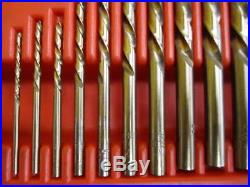 Snap-On 35pc Screw Extractor/LH Cobalt Drill Bit Set EXD35 Lightly Used