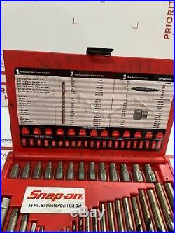 Snap On 35pc Screw Extractor / L. H Cobalt Drill Bit Set EXD35