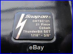 Snap-On DBTBC121 Cobalt Thunderbit 21-Piece Drill Bit Set