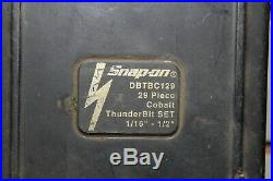 Snap-On DBTBC129 20 Piece High Speed COBALT ThunderBit Drill Bit Set 135°