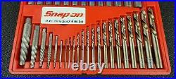 Snap On EXD35 35PC Extractor/Cobalt Drill Bit Set Complete Excellent Shape