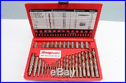 Snap-On EXD35 35Pc Screw Extractor/LH Cobalt Drill Bit Set 34 PIECES