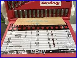 Snap On EXD35 35 Pc. Screw Extractor LH Cobalt Drill Bit Set