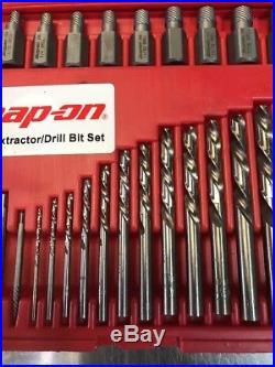 Snap-On EXD35 35pc Screw Extractor LH Cobalt Drill Bit Set