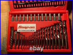 Snap On Exd35 35pc Screw Extractor Cobalt Drill Bit Set