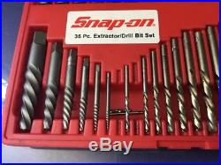 Snap On Tools EXD35 33 Piece Screw Extractor Cobalt Drill Bit Set #E2