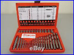 Snap-on 35pc. Screw Extractor / LH Cobalt Drill Bit Set (EXD35) Lightly Used