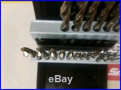 Snap-on DBTBC21 Jobber Length THUNDERBIT Cobalt Steel 21 Drill Bits in Case