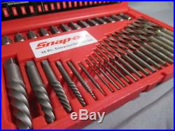 Snap-on EXD35 Screw Extractor LH Cobalt Drill Bit Set NR Auction