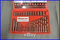 Snap-on Exd35 35 Pc Screw Extractor/lh Cobalt Drill Bit Set(85875-1-h)
