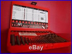 Snap-on Tools 35 Piece SCREW EXTRACTOR L/H COBALT DRILL BIT Set EXD35 NEW