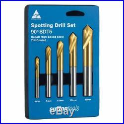 Sutton Tools 5-PIECE HSS-COBALT-TIN SPOTTING DRILL SET D175SDT5 6-16mmAust Made