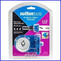 Sutton Tools BI-METAL COBALT HOLESAW DOOR LOCK INSTALLATION SET H125S11 5-Pieces