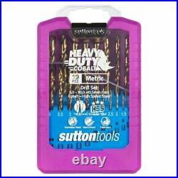 Sutton Tools Cobalt Metric Drill Set 19 Piece