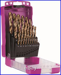 Sutton Tools JOBBER DRILL SETS 25Pcs Metric 1.0-13mm Cobalt Finish Aust Brand