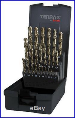 TERRAX 25pcs. Cobalt Drill Bits Set 1 13.0mm, HSS-Co5 MADE IN GERMANY