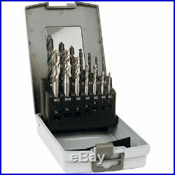 TTC 14 Pc Metric M35 Cobalt Jobbers Drill & Tap Set