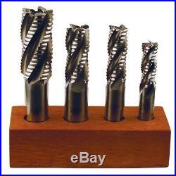 TTC D34-ST 4 Pc 1/2-1 M42 Cobalt Coarse Roughing Single End Mill Set