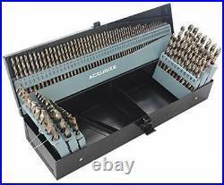 Tools M35H. S. S. Plus 5% Cobalt 115 Pc Professional Drill Bit Set 135 Deg Split