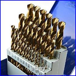 TopTech Tool 29pcs M42 Cobalt High Speed Steel HSS Jobber Twist Drill Sets 135
