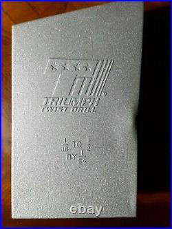 Triumph 99822 29 pc. Cobalt Steel 1/16 to 1/2 Drill Bits Open Box
