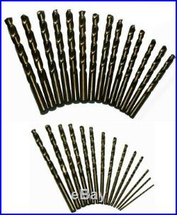 Twist Drill Bit Set Cobalt With Round Case Drilling Power Tool Accessory 29-Pieces
