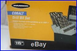 WARRIOR Cobalt 61886 Drill Bit 115 Piece Set NEW