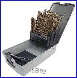 WESTWARD 10D228 Pilot Point Drill Bit Set, Cobalt, 29 Pcs