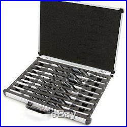 XtremepowerUS 17PC HSS Cobalt Silver & Deming Drill Bits Set With Metal Case