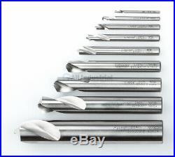 YG1 NC Spotting Drill 8% Cobalt HSS 0.3cm 2.5cm 120 Degree 9 Pc Set CNC